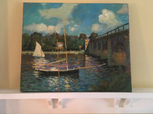 Hand painted oil reproduction of Claude Monet