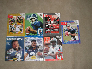 Seven Assorted CFL Game Day Programs