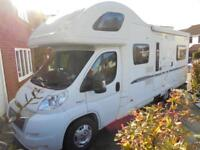 BESSACARR E495, 6 BERTH, REAR U LOUNGE, AUTO SEEK SAT TV SYSTEM , LOW MILEAGE,