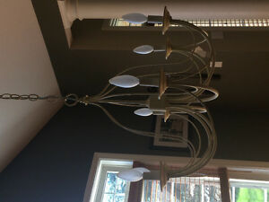 Dining chandelier and hall fixture