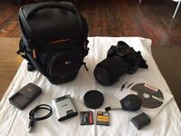 Canon 400D Digital SLR camera with Sigma DC 18 - 200mm lens and all accessories