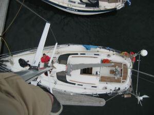 Sailboat Beneteau Oceanis 350 family cruiser 35 ft