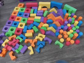 Foam building blocks