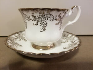 Royal Albert Tea Cup &Saucer 25th Anniversary Pattern  BoneChina
