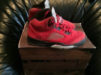 Selling air jordan 5s raging bull shoes reds only
