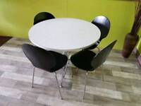 Round Table & Set Of 4 Ikea Chairs - Can Deliver For £19