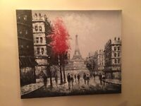 Canvas paintings of France x2