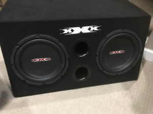 XXX Car Audio 2 10inch Car Sub-woofers with Box