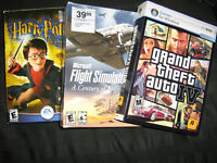 GTA IV / Flight simulator 2004 / Harry Potter