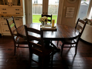 Pottery Barn Wood Table and Chairs