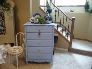 Lovely French Provincial Tall Boy Dresser
