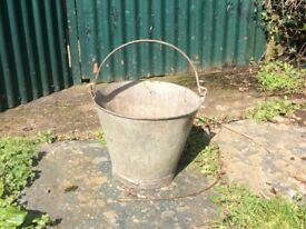 Old Galvanised Metal Bucket