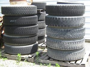 tires 11x 22.5 truck tires on open centre rims