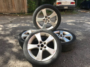 4 mags rims roues 17po 5x114.3