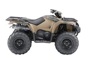 2018 Yamaha Kodiak 450 EPS Beige with camo graphics (steel wheel