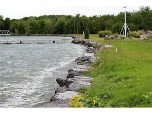 Gorgeous waterfront building lot for sale!