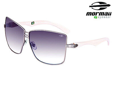 NIB Mormaii Model Bossa Womens Retro Eyewear UV 400 Sunglasses Cream / Silver