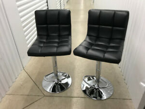 2 Bar Stools (Black) with High Back.  Like NEW! Great Price! 2