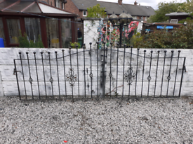 Wrought Iron Railings / Wall Topper / Metal Fencing / Garden Fence