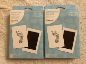 Pearhead clean-touch ink pad for baby prints x2