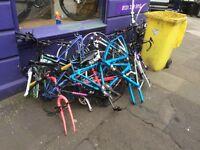 Scrap metal bikes wheels