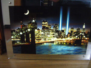 Light up Mirror Picture for sale Twin Towers scene Truro