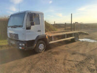 2005 05 MAN L 2000 7.5 TON 2 Car Transporter Diesel White NO MOT.