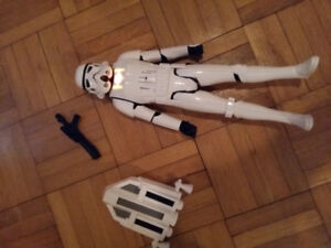 "Star Wars Stormtrooper 12"" action figure. French speaking."