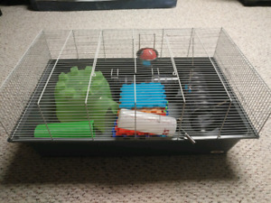 Small animal cage + tons of accessories