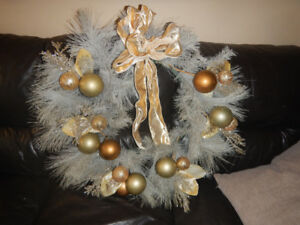 christmas wreath- golden, glittery, gorgeous. From Micheals