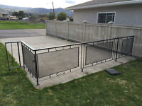 Metal fence with gate 7 ft gate $100
