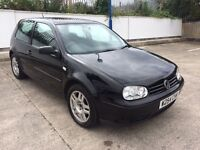 VW GOLF 2.0 GTI 3 DOOR, BLACK MK4 NEW MOT, DRIVES PERFECT, FULL SERVICE HISTORY/CAMBELT CHANGE