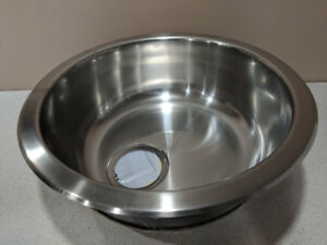 New Circular stainless steel sink (Ikea BOHOLMEN)