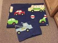 Boys single transport duvet cover & pillow case