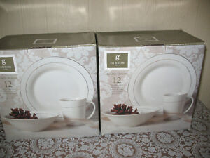 Two Sets of Dinnerware - New