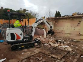 Mini digger hire 1.7 ton bobcat