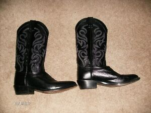 Leather Cowboy Boots Size 7.5