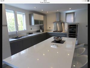 Granite,marbre , comptoir cuisine sur mesure