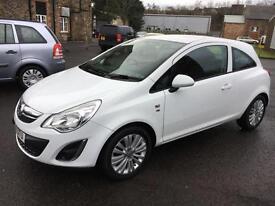 1111 Vauxhall Corsa 1.2i 16v ( 85ps ) Excite White 3 Door 49122mls MOT 12m