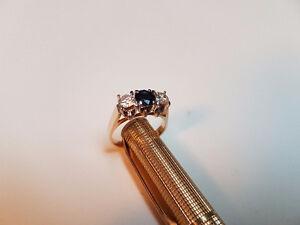 Estate sale sapphire and diamond ring