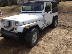 1990 Jeep YJ For Sale or Parts