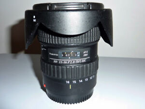 Tokina AF-x pro 11-16mm F2.8  for canon