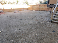 Need 2000 SF of mixed gravel removed