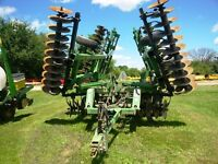 John Deere 637 26 Foot Rock Flex Disc with Harrow