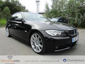 BMW 3 SERIES 325D M SPORT, Black, Manual, Diesel, 2007 FULL MOT GREAT HISTORY