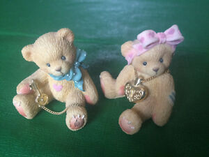 *** Three miniature cherished teddies**