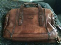 Fossil leather computer bag