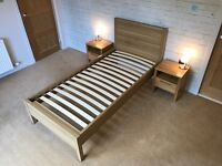 John Lewis Bed and Bedside Cabinets