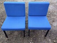 4 blue office chairs £20