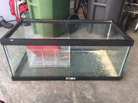 Glass aquarium + small critter cage (best offer)